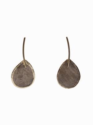 Circle Leaf Earrings