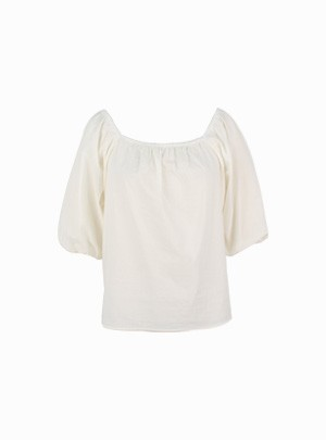Pretzel off-shoulder Blouse