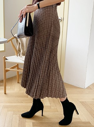 Hollyn Banding Pleated Skirt