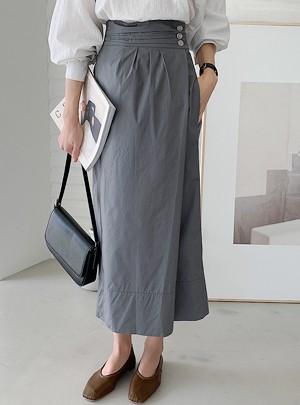 Romei Slit Midi Skirt