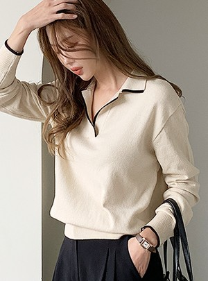 Point Collar Knit