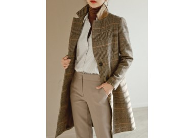 Melisa Check Coat