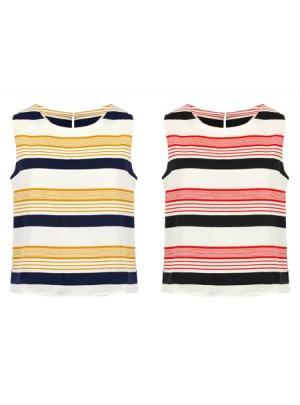 Diva Color Block Stripe Sleeveless