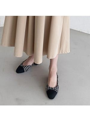 Color Scheme Sling Back Middle Heel