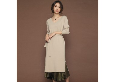 Fay V-Neck Long Dress