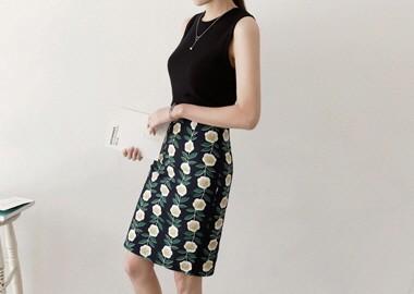 Pansy Flower Skirt