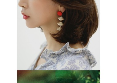 Red Wood Earring